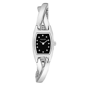 Accurist Ladies' Stone Set Semi Bangle Watch - Product number 2920174