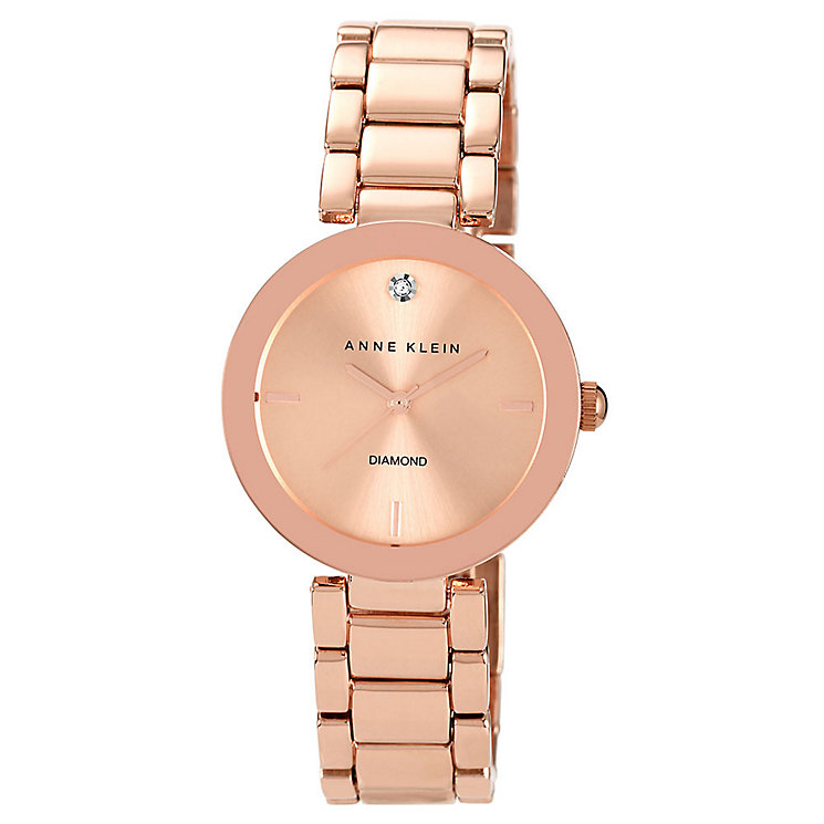 Anne Klein Ladies' Diamond Rose Gold-Plated Bracelet Watch - Product number 2920239