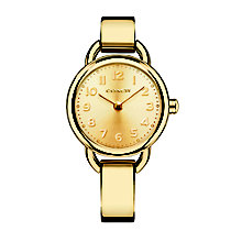 Coach ladies' gold-tone champagne bangle bracelet watch - Product number 2920352