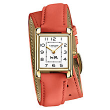 Coach ladies' gold-plated coral wrap strap watch - Product number 2920468