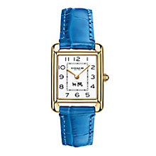 Coach ladies' gold-tone navy mock croc strap watch - Product number 2920484