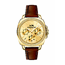 Coach ladies' gold-tone tan leather strap watch - Product number 2920522