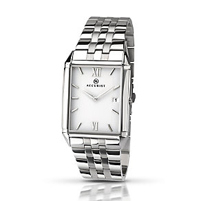 Accurist Men's Rectangular Stainless Steel Bracelet Watch - Product number 2920581