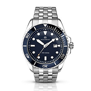 Accurist Men's Blue Dial & Stainless Steel Bracelet Watch - Product number 2920662