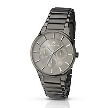 Accurist Men's Gunmetal Grey Stainless Steel Bracelet Watch - Product number 2920670