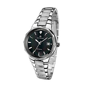 Accurist Ladies' Black Dial Stainless Steel Bracelet Watch - Product number 2921804