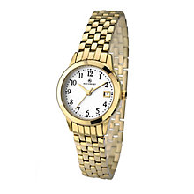 Accurist Ladies' Yellow Gold Plated Bracelet Watch - Product number 2921839