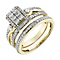Perfect Fit 9ct Yellow Gold Diamond Cluster Bridal Set - Product number 2921901
