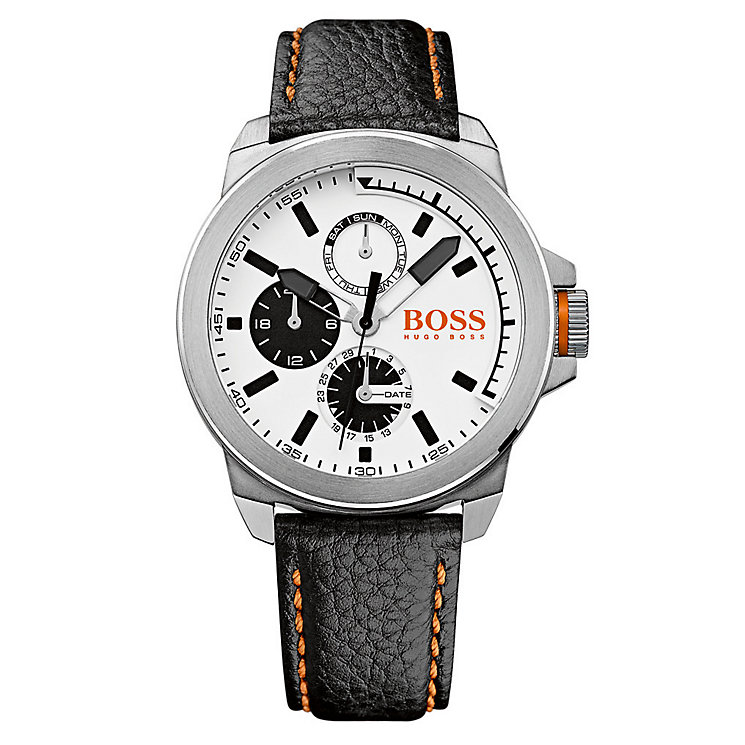 Hugo Boss Orange Men's Stainless Steel & Black Leather Watch - Product number 2922622