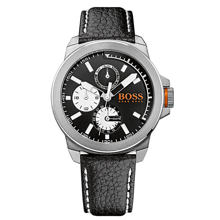 Hugo Boss Orange Men's Stainless Steel & Black Leather Watch - Product number 2922630