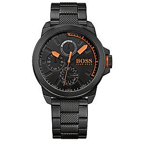 Boss Orange Men's Black Stainless Steel Bracelet Watch - Product number 2922649