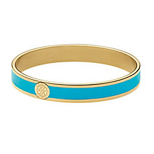 Dyrberg Kern Yellow Gold Plate Turquoise Enamel Slim Bangle - Product number 2923718