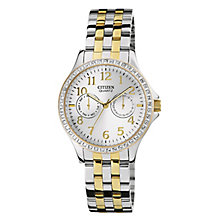 Citizen Ladies' Two Tone Stone Set Bracelet Watch - Product number 2924463