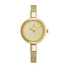 Obaku Ladies' Yellow Gold Plate Mesh Bracelet Watch - Product number 2925044