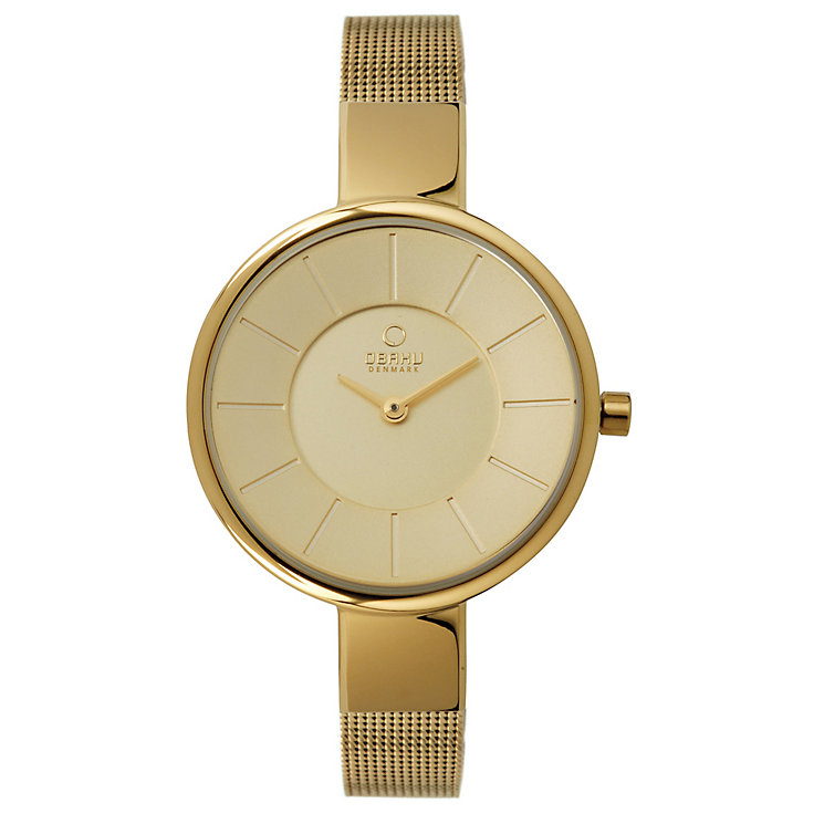 Obaku Ladies' Yellow Gold Plate Mesh Bracelet Watch - Product number 2925060