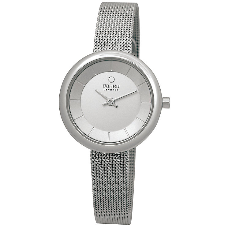 Obaku Ladies' Silver Tone Mesh Bracelet Watch - Product number 2925168