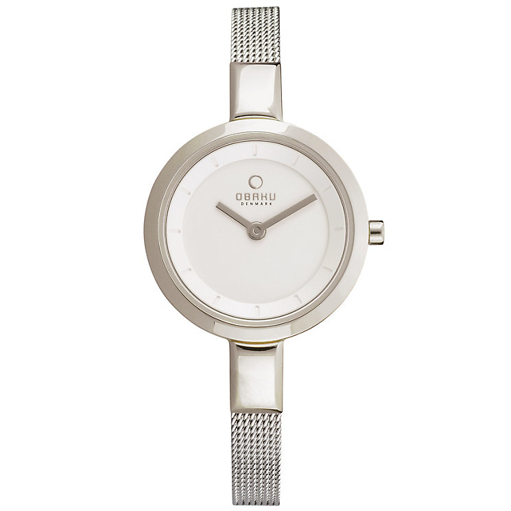 Obaku Ladies' Silver Tone Mesh Bracelet Watch - Product number 2925206