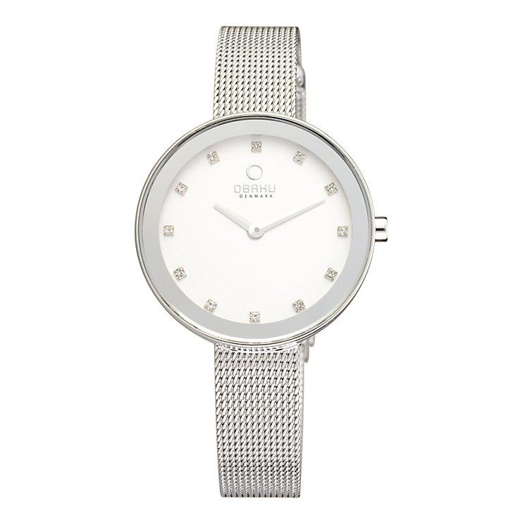 Obaku Ladies' Stone Set Stainless Steel Mesh Bracelet Watch - Product number 2925826
