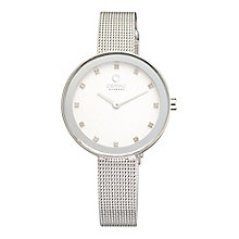 Obaku Ladies' Stone Set Stainless Steel Mesh Bracelet Watch - Product number 2925826