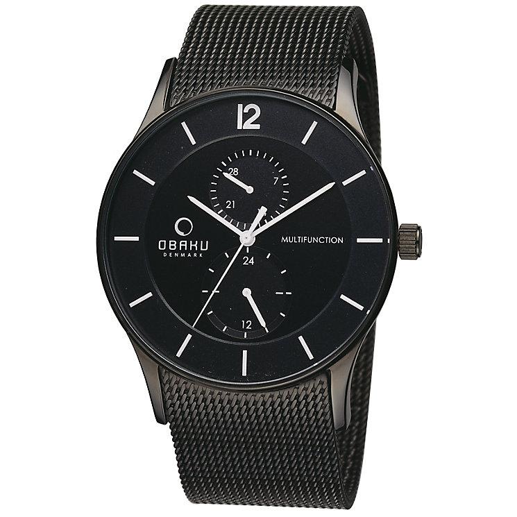 Obaku Men's Black Mesh Bracelet Watch - Product number 2925869