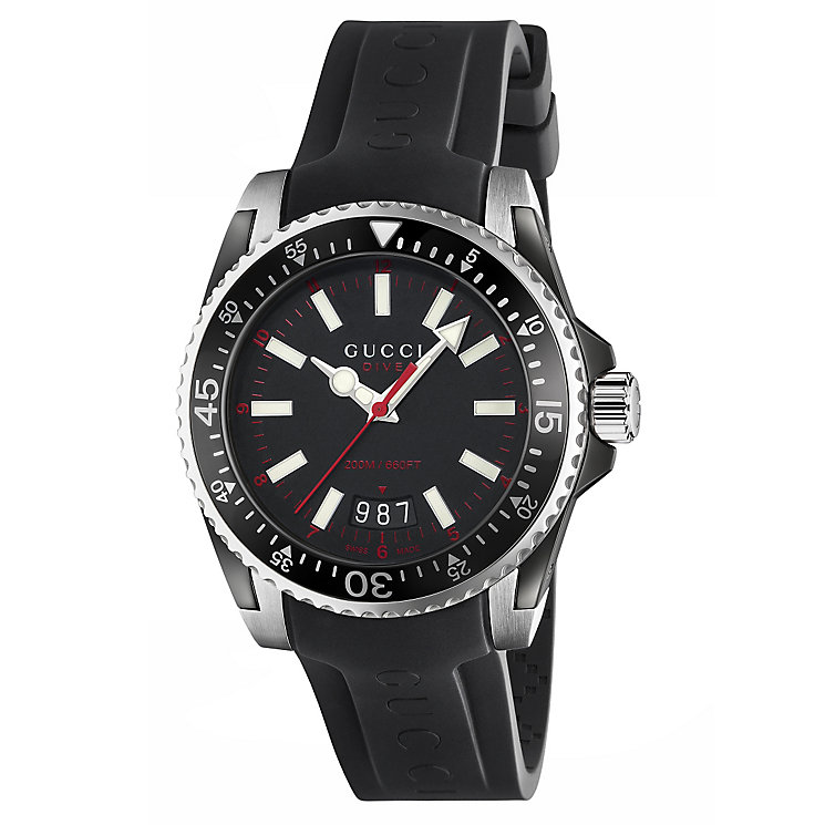 Gucci Dive 40 men's stainless steel strap watch - Product number 2926040