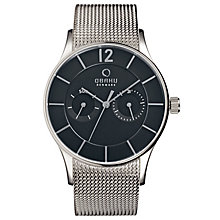 Obaku Men's Black Dial &Stainless Steel Mesh Bracelet Watch - Product number 2926091