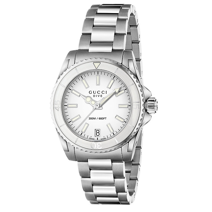 Gucci Dive ladies' white dial stainless steel bracelet watch - Product number 2926172