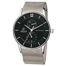 Obaku Men's Black Dial &Stainless Steel Mesh Bracelet Watch - Product number 2926199