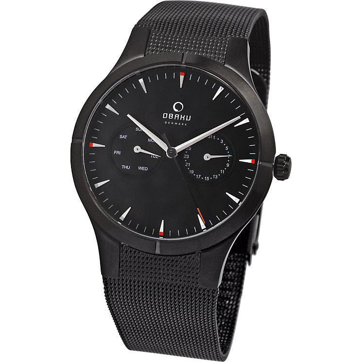 Obaku Men's Black Multifunction Mesh Bracelet Watch - Product number 2926229
