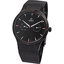 Obaku Men's Black Multifunction Mesh Bracelet Watch - Product number 2926229