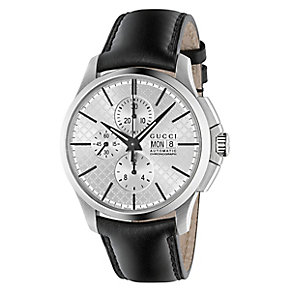 Gucci G-Timeless men's stainless steel leather strap watch - Product number 2926393