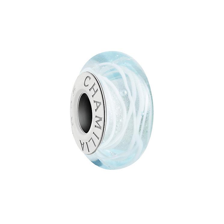 Chamilia Sterling Silver & Aqua Murano Orbit Bead - Product number 2926725