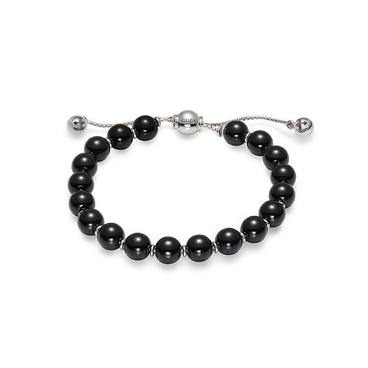 Gucci Boule sterling silver black bead bracelet - Product number 2926784