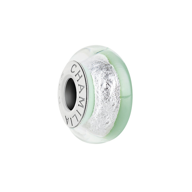 Chamilia Silver Shade light green Murano glass bead - Product number 2930781