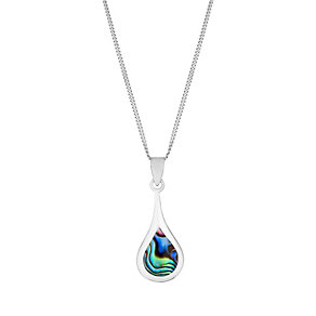 Sterling Silver Teardrop Abalone Pendant - Product number 2931206
