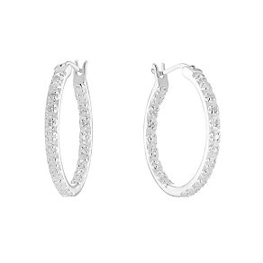 Sterling Silver & Cubic Zirconia Hoop Earrings - Product number 2931338