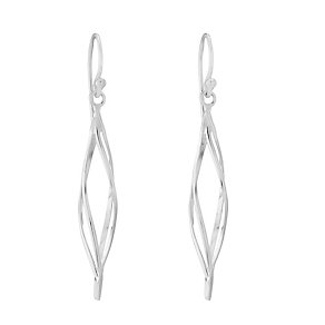 Sterling Silver Twist Drop Earrings - Product number 2931362
