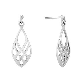 Sterling Silver Lattice Teardrop Earrings - Product number 2931370