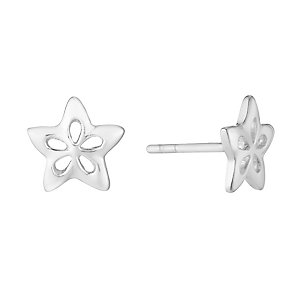 Sterling Silver Flower Stud Earrings - Product number 2931591
