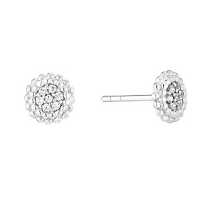 Sterling Silver & Cubic Zirconia Circular Stud Earrings - Product number 2931605