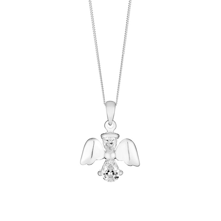 Sterling Silver & Cubic Zirconia Angel Pendant - Product number 2931729