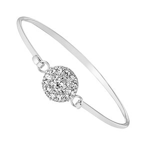 Sterling Silver & Crystal Baroque Bangle - Product number 2931753