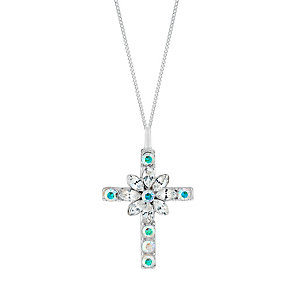 Sterling Silver & Crystal Baroque Cross Pendant - Product number 2931842