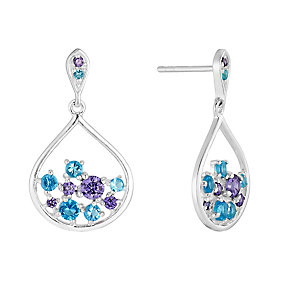 Sterling Silver & Cubic Zirconia Pear Drop Earrings - Product number 2931850