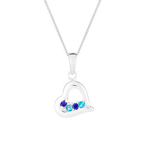Sterling Silver & Cubic Zirconia Heart Pendant - Product number 2931907