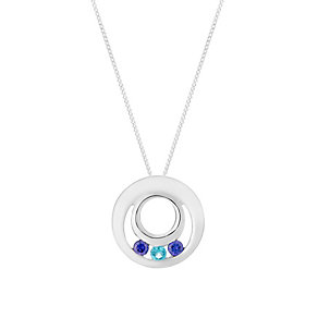 Sterling Silver & Cubic Zirconia Round Pendant - Product number 2932016
