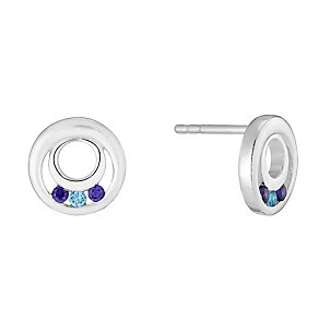 Sterling Silver & Cubic Zirconia Round Earrings - Product number 2932059