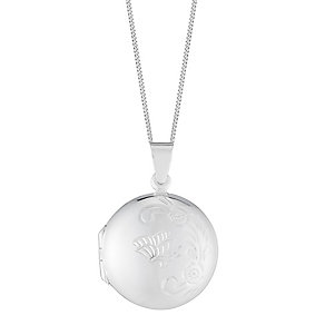 Sterling Silver Round Engraved Locket - Product number 2932113