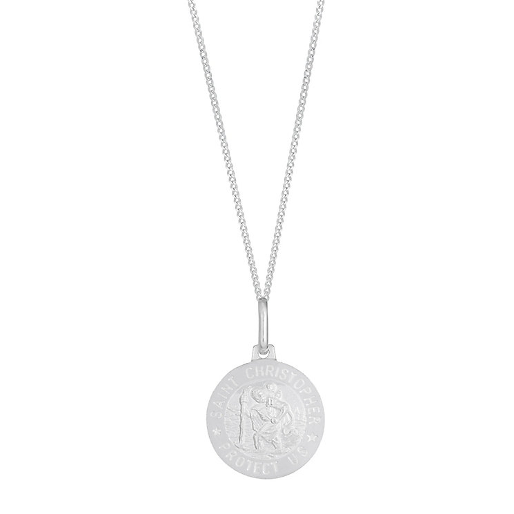 Sterling Silver Round St Christopher Pendant - Product number 2932180