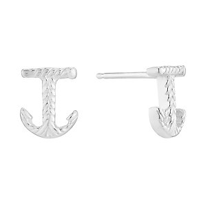 Sterling Silver Anchor Stud Earrings - Product number 2932695